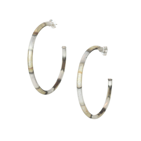 Sheila Fajl 2.25 Everybody's Favorite Hoop Earrings in Burnished Silver