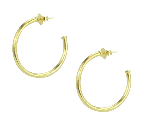 Sheila Fajl Petite Favorite Hoop Earrings in Gold Plated