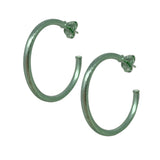 Sheila Fajl Petite Favorite Hoop Earrings in Mint Green