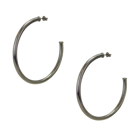 Sheila Fajl Everybody's Favorite Hoop Earrings in Gunmetal
