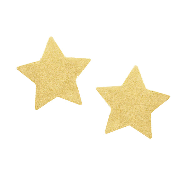 Sheila Fajl Lana Star Stud Earrings in Champagne Plated
