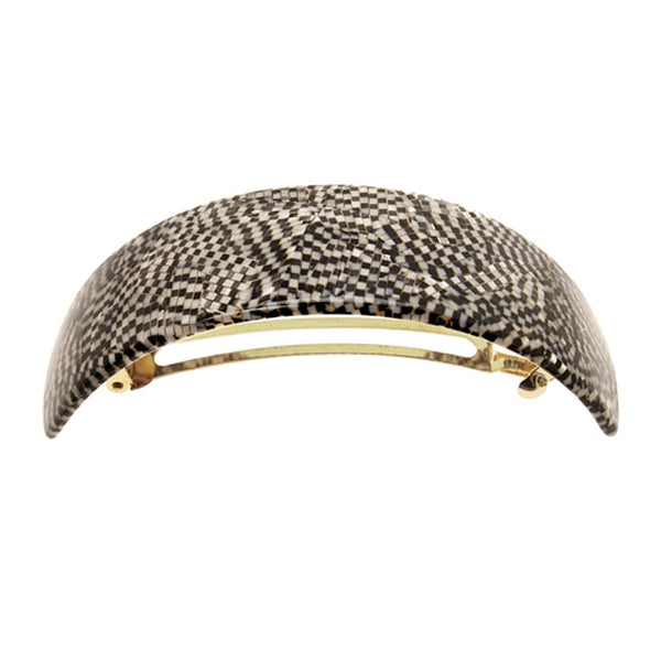 image of France Luxe Extra Volume Barrette in Opera Silver