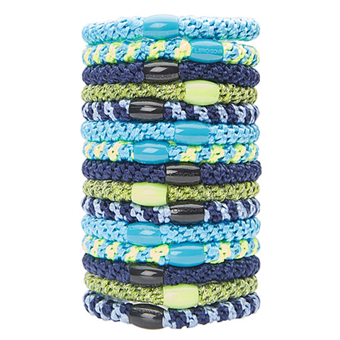 L.Erickson Grab and Go Pony Tube Hair Ties in Marina 15 Pack