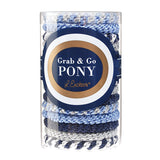 L. Erickson Grab and Go Pony Tube Hair Ties in Sparkle Mix 15 Pack in gift tube