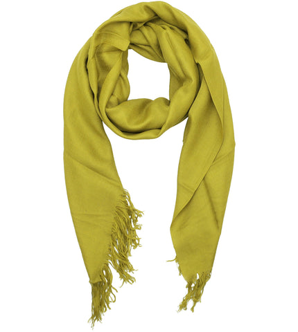 Blue Pacific Tissue Solid Modal and Cashmere Scarf in Antique Moss