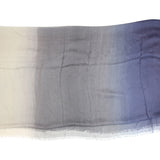 Blue Pacific Dream Cashmere and Silk Scarf in Taupe Gray and Navy