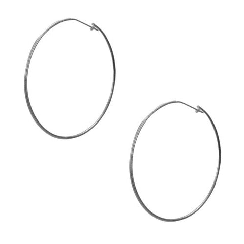 Sheila Fajl Lisa Featherweight Hoop Earrings in Gunmetal