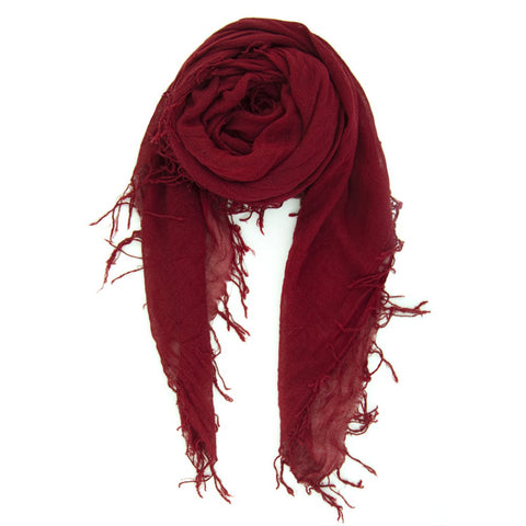 Chan Luu Cashmere and Silk Solid Scarf in Biking Red Crimson