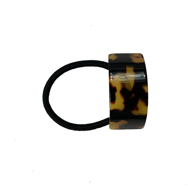 Ficcare Rectangle French Acetate Decorative Ponytail Holder in Yellow Tokyo
