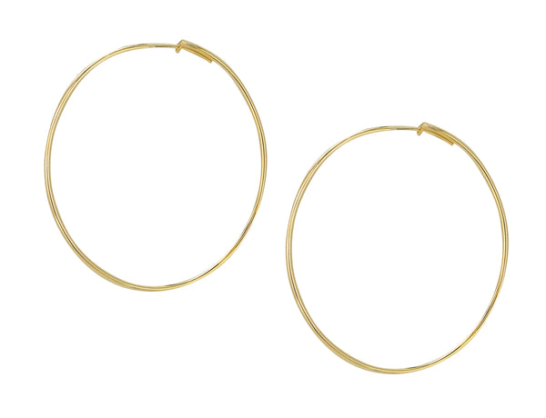 image of Sheila Fajl Lisa Featherweight Hoop Earrings in Polished Champagne