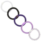 image of variations for L. Erickson Grab and Go Pony Tube Hair Ties in Ultra Violet 15 Pack