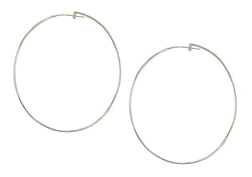 image of Sheila Fajl Lisa Featherweight Hoop Earrings in Polished Silver
