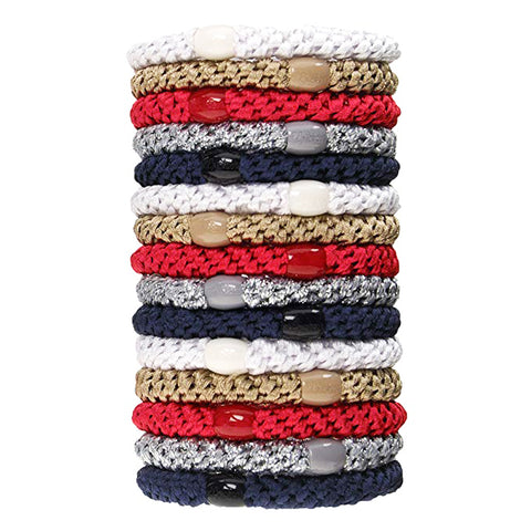 L.Erickson Grab and Go Pony Tube Hair Ties in Anchor 15 Pack