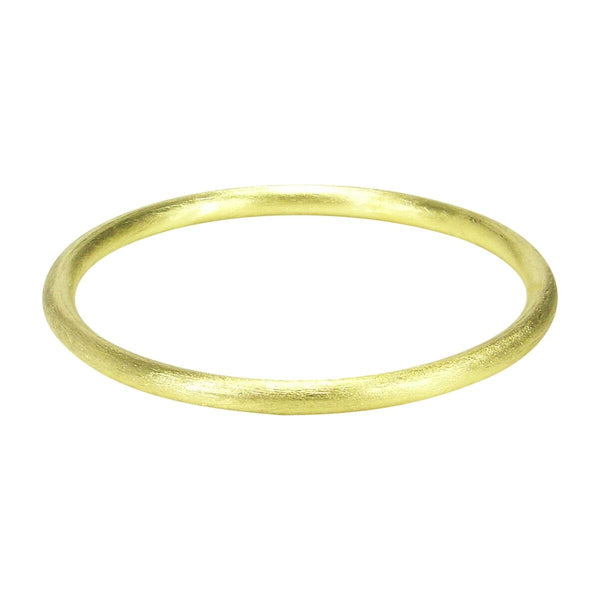 Sheila Fajl Thin Tubular Bangle Bracelet in Gold