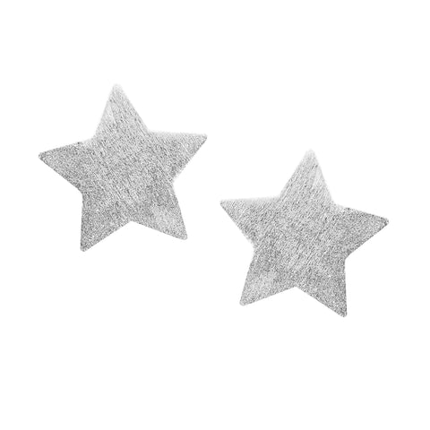 Sheila Fajl Lana Star Stud Earrings in Brushed Silver Plated