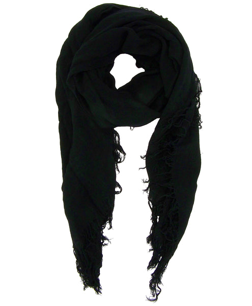 Blue Pacific Tissue Modal and Cashmere Scarf in Black