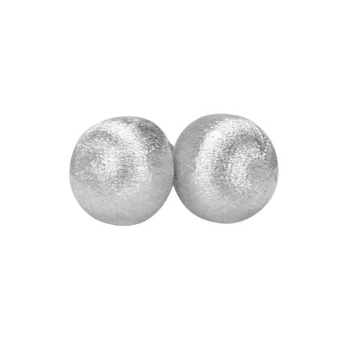 image of Sheila Fajl Lilou Ball Stud Earrings in Brush Silver
