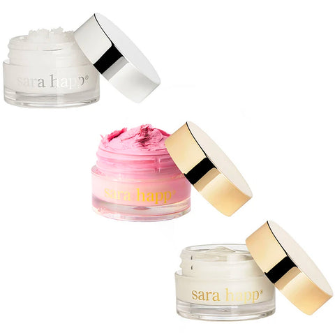 Sara Happ Sweet Dream Lip Set - Chamomile Lavender Lip Scrub, Sweet Clay Lip Mask & The Dream Slip Lip Cream