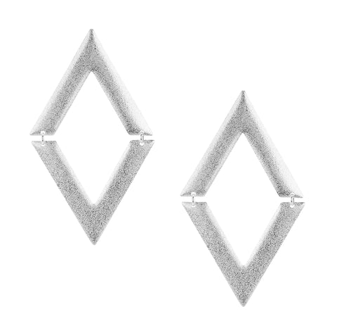 Sheila Fajl V on V Statement Dangle Earrings in Silver Plated