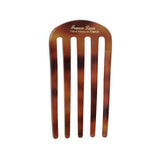 back image of France Luxe Classic Five Tooth Chignon Hair Comb in Tortoise