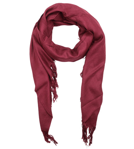 Blue Pacific Tissue Solid Modal and Cashmere Scarf in Pomegranate