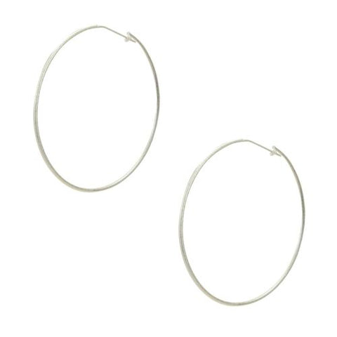 Sheila Fajl Lisa Featherweight Hoop Earrings in Silver