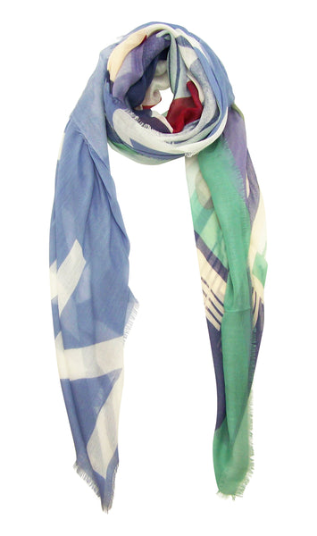 Blue Pacific Vintage Locale London Cashmere and Silk Scarf
