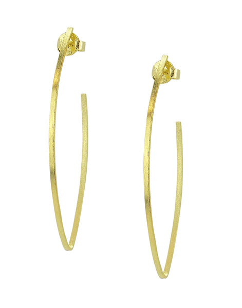 image of Sheila Fajl Peter V Hoop Earrings in Gold Plated