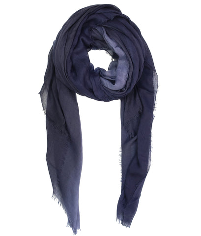 Blue Pacific Dream Cashmere and Silk Scarf in Vintage Indigo and Gray