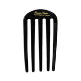 backside of France Luxe Classic Five Tooth Chignon Hair Comb in Black