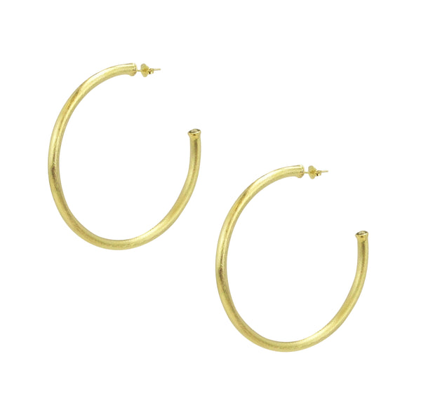 Pair of Sheila Fajl Everybody's Favorite Hoop Earrings in Gold
