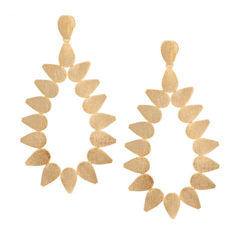 Sheila Fajl Livia Open Teardrop Statement Earrings in Champagne