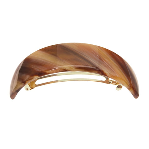 France Luxe Extra Volume Barrette in Caramel Horn