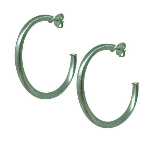 Sheila Fajl Smaller Favorite Tubular Hoop Earrings in Mint Green