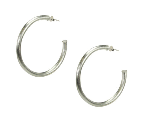 Sheila Fajl Smaller Favorite Tubular Hoop Earrings in Silver