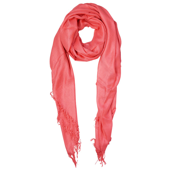 Blue Pacific Tissue Solid Modal and Cashmere Scarf Shawl in Tea Rose Pink