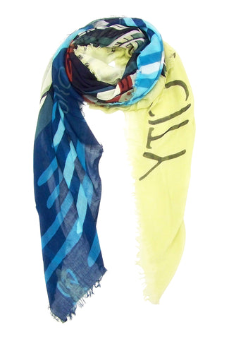 Blue Pacific Brooklyn New York Cashmere and Silk Scarf