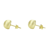 Side View of Sheila Fajl Lilou Ball Stud Earrings in Gold