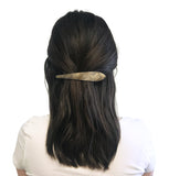 Ficcare Maximas Hair Clip in Pearlized Charcoal and Gold Plated