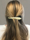 Ficcare Maximas Hair Clip in Hammered Matte Gold Plated