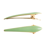Ficcare Mini Maximas Hair Clip Pair in Sahara Agave Enamel