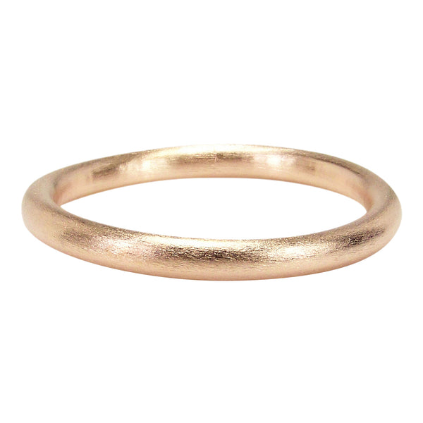 Front View of Sheila Fajl Everybody's Favorite Tubular Bangle in Rose Gold