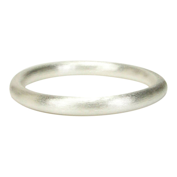 Front View of Sheila Fajl Everybody's Favorite Tubular Bangle in Silver