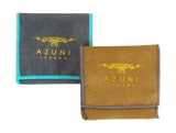 Two Azuni London Fabric Bags in Dark Grey Light Blue and Tan Dark Brown