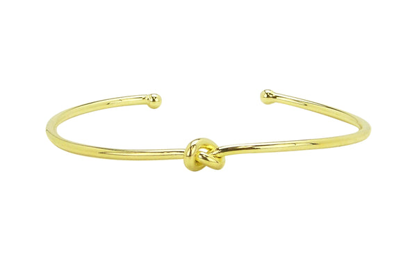 Sheila Fajl Classic Knot Bangle Bracelet in Polished Gold Plated