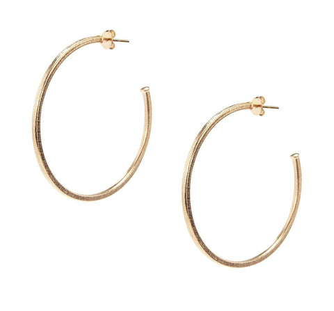 Sheila Fajl Perfect Hoop Earrings in Champagne