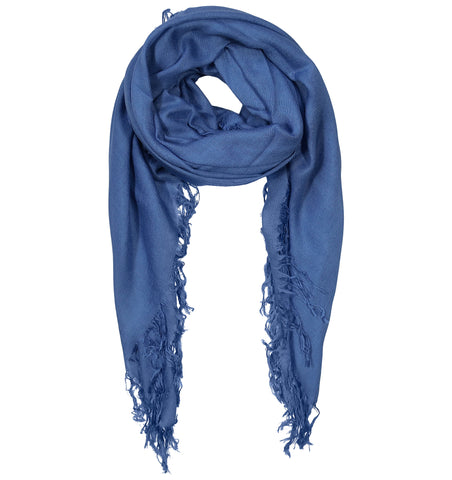 Blue Pacific Tissue Solid Modal and Cashmere Scarf Shawl in Persian Violet