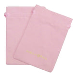 Two Pink Sheila Fajl Fabric Bags Laying Flat Overlapping