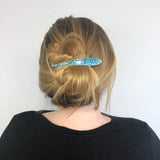 Ficcare Maximas Sunrise Primavera Hair in Sky Blue Turquoise and Silver