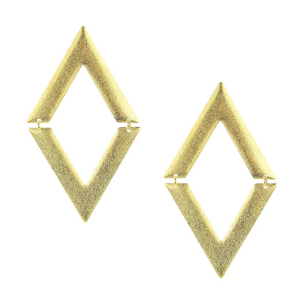 image of Sheila Fajl V on V Statement Dangle Earrings in Gold Plated